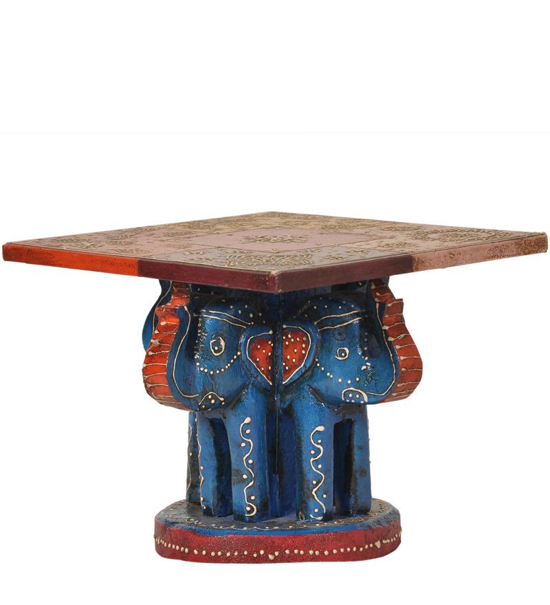 Brihadratha Coffee Table In Multi Colour Finish With Mudramark By Mudramark Online Indian
