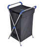 Brancley Stainless Steel 24 L Black Large Laundry Basket