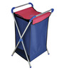 Brancley Stainless Steel 24 L Blue & Red Large Laundry Basket