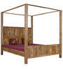 Elkhorn King Size Poster Bed In Natural Finish by Woodsworth