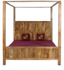 Elkhorn King Size Poster Bed in Natural Mango Wood Finish by Woodsworth