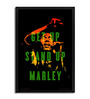Bravado Fibre with Wood Texture 13 x 19 Inch Bob Marley Get Up Stand Up Framed Posters