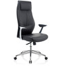 Bravia Executive Chair in Black Leather by Oblique
