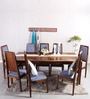 Brianna Eight Seater Dining Set in Provincial Teak Finish by Woodsworth