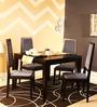 Brianna Four Seater Dining Set in Espresso Walnut Finish by Woodsworth