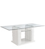 Brick Six Seater Dining Table in White Colour by @home