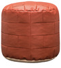 Bricks Brown Colour Pouffe by Purplewood