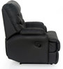 Brigida One Seater Recliner Sofa in Black Colour by CasaCraft