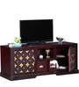 Alara Entertainment Unit in Passion Mahogany Finish by Mudramark