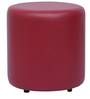 Britto Round Pouffe in Maroon by Columbus First Furniture