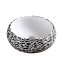 Brizzio Black & White Ceramic Round Basin