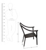 4 Seater Dining Set (1T + 4C) in Brown by Vetra