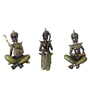 Browse House Bronze & Green Polyresin Musical Buddha - Set of 3