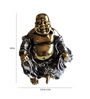 Browse House Bronze & Silver Polyresin Laughing Buddha - Set of 3