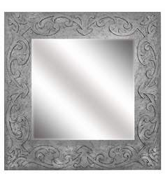 Butterfly Homes Silver Wood Splendid Square Dressing Mirror
