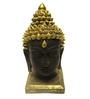Earth Black & Gold Polyresin Buddha Head Showpiece