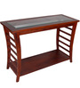 Toston Solid Wood Console Table in Honey Oak Finish by Woodsworth