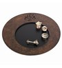 Butterfly Homes Brown Wooden Sophisticated Ganesha Aarti Thali