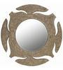 Butterfly Homes Grey Wood Stylish & Lavish Decorative Mirror