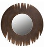 Butterfly Homes Brown Wood Stylish Artistic Decorative Mirror