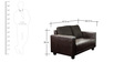 Calista (3 + 2 + 1) Sofa Set in Brown Colour by CasaCraft