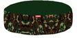 Camouflage Round Pet Bean Bag Cover in Green Colour by Orka