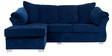 Carina RHS Two Seater Sofa with Lounger in Steel Blue Colour by CasaCraft