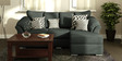 Carina LHS Two Seater Sofa with Lounger in Graphite Grey Colour by CasaCraft