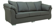 Carina Three Seater Sofa in Graphite Grey Colour by CasaCraft