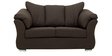 Carina Two Seater Sofa in Mud Brown Colour by CasaCraft
