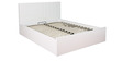 Carol High Gloss Queen Bed with Hydraulic Storage in White Colour by HomeTown