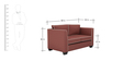 Carolina Sofa Set (3+2) Seater in Cherry Color by ARRA