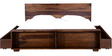 Freemont Queen Bed With Storage in Provincial Teak Finish by Woodsworth