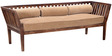 Kelso Three Seater Sofa in Provincial Teak Finish by Woodsworth