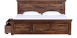 Norfolk Queen Bed with Storage in Provincial Teak Finish by Woodsworth