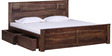 Madison Queen Bed with Storage in Provincial Teak Finish by Woodsworth