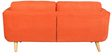 Cassia Two Seater Sofa in Orange Colour by CasaCraft