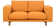 Catalunya Two Seater Sofa in Apricot Colour by Casacraft