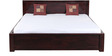 Nashville King Bed with storage in Passion Mahogany Finish by Woodsworth