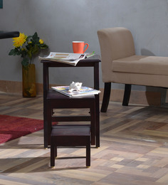 Kennewick Set Of Tables in Passion Mahogany finish by Woodsworth