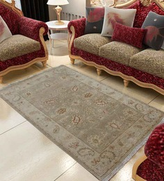 Carpet Overseas brown Wool 37 x 61 inch Ethnic Carpet