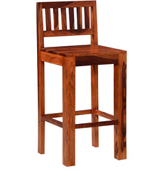 Cartagena Solid Wood Bar Chair in Honey Oak Finish by Woodsworth