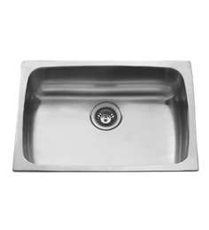 Carysil Elegance Gloss Stainless Steel Single Bowl Kitchen Sink - 30x18x9