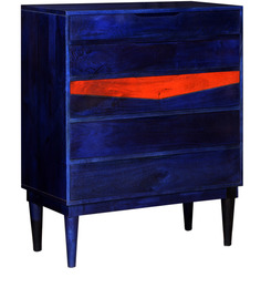 Migos Azul Chest of Drawers in Distress Finish by Bohemiana