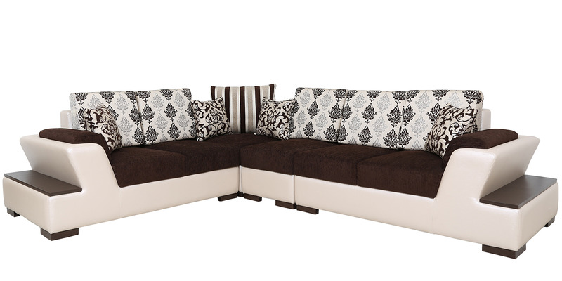 Buy capital sectional corner sofa in multi colour by star for Sectional sofa bed india