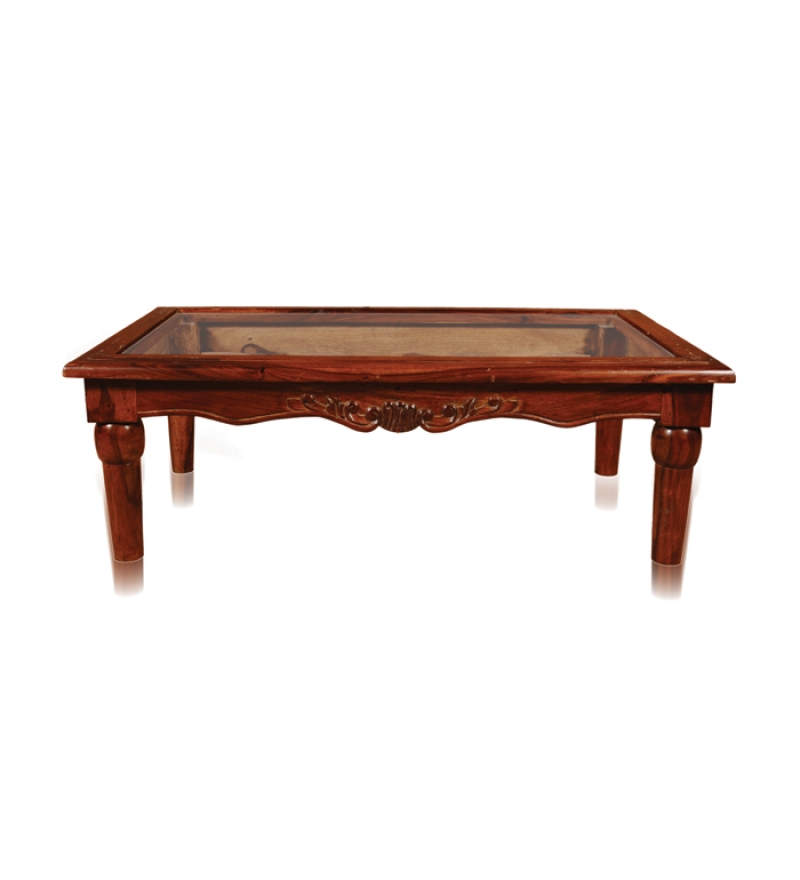 Rajputana carved wooden coffee table with glass top by mudramark online coffee centre tables Carved wood coffee table