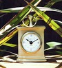 Orange Golden Steel Tree Cairo Table Clock