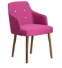 Calascio Arm Chair (Set of 2) in Pink Color with Cocoa Legs by CasaCraft