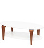 Camila High Gloss Centre Table in White Finish by HomeTown