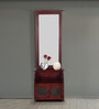 Campbell Dressing Table with Detachable Mirror in Passion Mahogany finish by Amberville